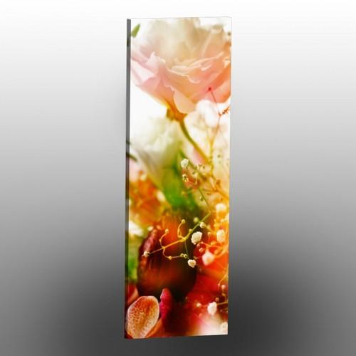 Duvardizayn Kanvas Tablo - Beyaz Çiçek - 30 x 90 cm