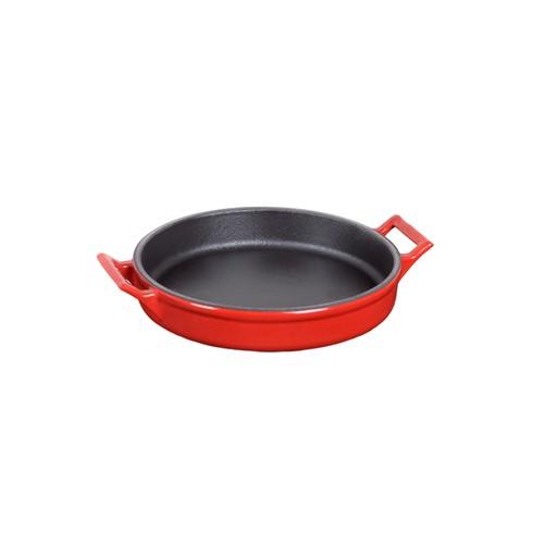 Hecha Sunum / Sofra / Horeka Tava Skillet Plate 19Cm Siyah Kırmızı