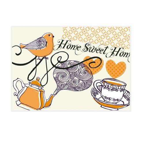Cushion Design 4 lü Home sweet Amerikan Servis