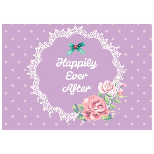 Cushion Design 4 lü Happily Ever After Amerikan Servis - Mor