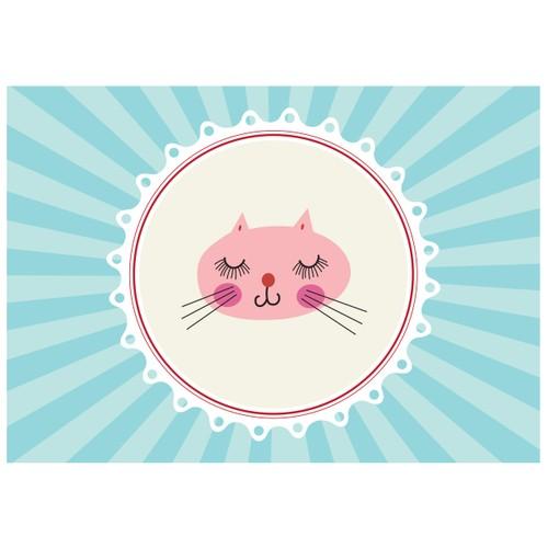Cushion Design 4 lü Tiny Cat Amerikan Servis