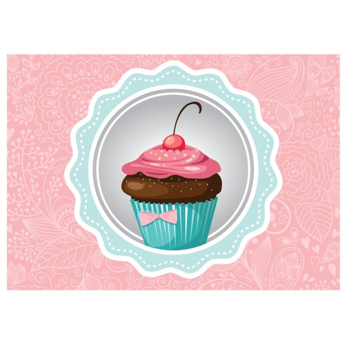 Cushion Design Cupcake Amerikan Servis- Pembe