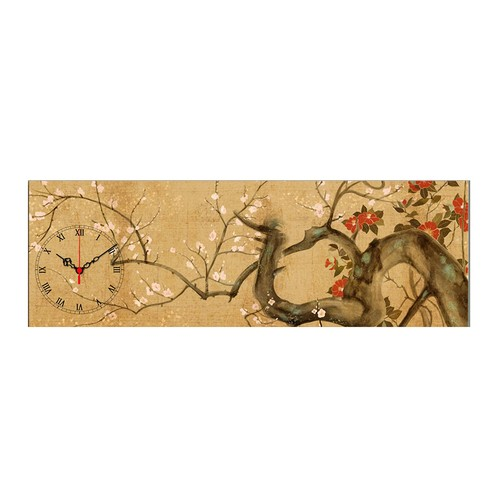 Mania Dolanmış Ağaç Dalları 30x90 cm Kanvas Saat
