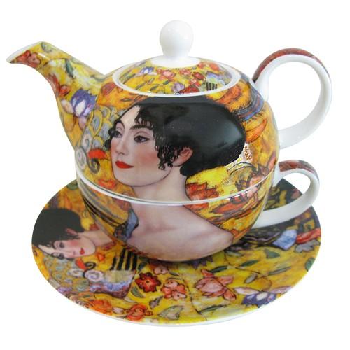 LunArt Klimt Kişiye Özel Çay Set