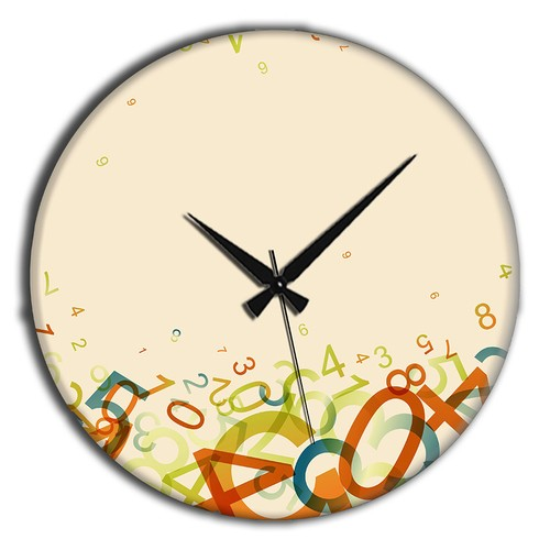 Frank Ray 60 cm MDF Wall Clock Renkli Rakam