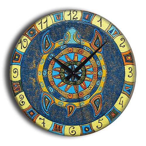 Frank Ray 60 cm Mavi Kaplumbağa Mdf Duvar Saati