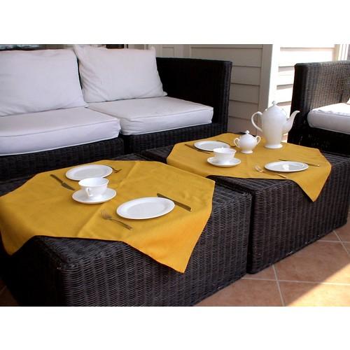 Yeni Yün Christoff 2 li Kare Masa Örtüsü - Espresso - 75x75 cm