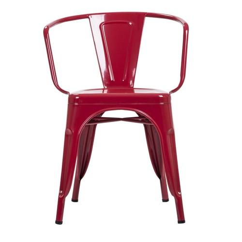 Şaziye Metal Tolix Kollu Sandalye- Kırmızı