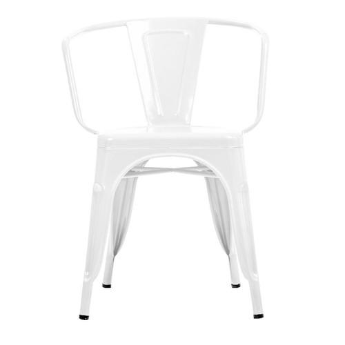 Şaziye Metal Tolix Kollu Sandalye- Beyaz
