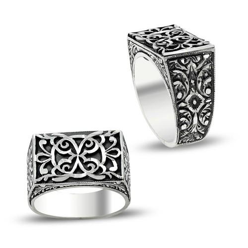 Anıyüzük Erzurum El İşi Gümüş Erkek Yüzüğü