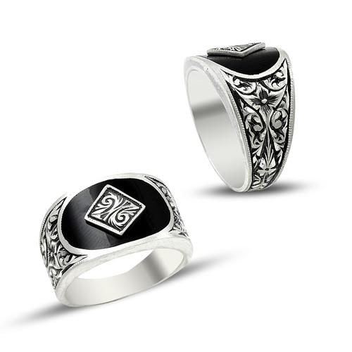 Anıyüzük Erzurum El İşçiliği Gümüş Erkek Yüzüğü