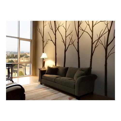 Besta Çıplak Ağaçlar Duvar Sticker