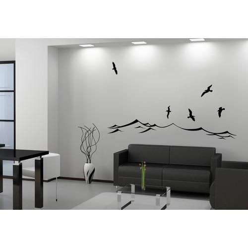 Besta Dalgalar ve Kuşlar Duvar Sticker