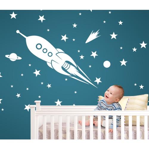 Besta Uzay Mekiği Duvar Sticker
