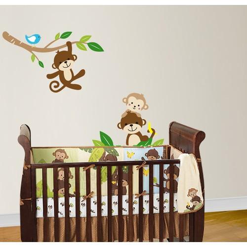 Besta Maymunlar Duvar Sticker