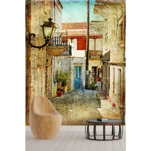 Pidekorasyon Şehir Manzara Desenli Duvar Kağıdı - YNN-01