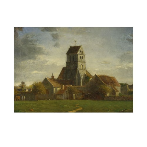 ARTİKEL Follower of Jean-François Millet - Landscape with Buildings 50x70 cm KS-1470