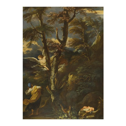 ARTİKEL After Salvator Rosa - An Angel appears to Hagar and Ishmael in the Desert 50x70 cm KS-1410