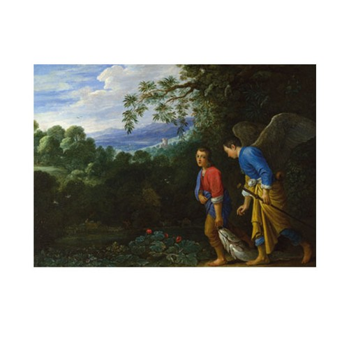 ARTİKEL After Adam Elsheimer - Tobias and the Archangel Raphael 50x70 cm KS-1373