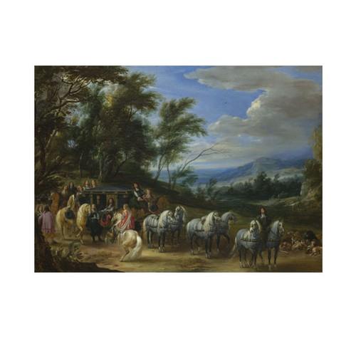 ARTİKEL Adam-François Van Der Meulen - Philippe François d'Arenberg meeting Troops 50x70 cm KS-1378