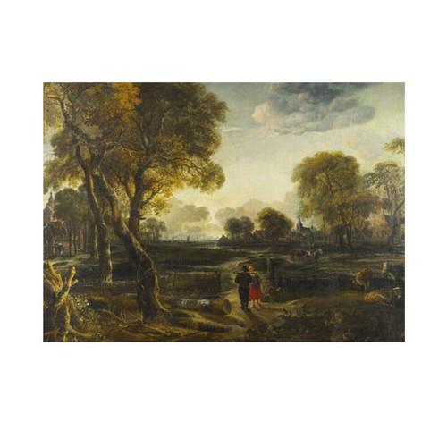 ARTİKEL Aert Van Der Neer - An Evening View near a Village 50x70 cm KS-1395