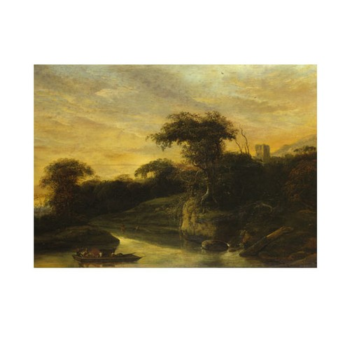 ARTİKEL Jacob de Wet the Elder - A Landscape with a River at the Foot of a Hill 50x70 cm KS-1496