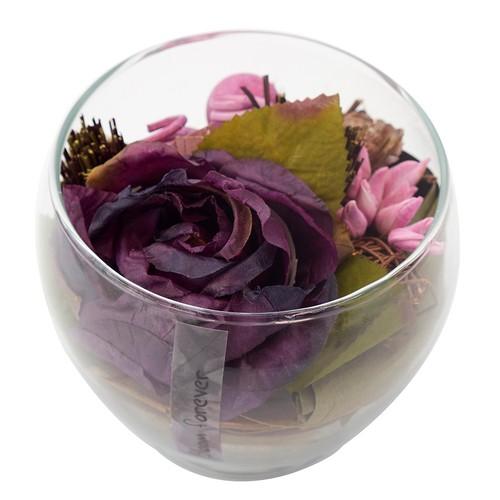 Casa di Mona Cam Fanus İçinde Doğal Malzemeler İle Dekore Edilmiş Yapay Çiçek1