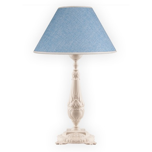 Fivorno Fivorno Falconidy Kumaş Başlıklı Krem Burj Ayak Abajur | Mavi