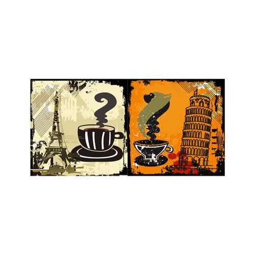 ARTİKEL Coffee Time 2 Parça Kanvas Tablo 80x40 cm KS-422