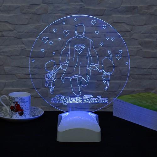 Dekorjinal Dekojinal Babalar Günü 3 Boyutlu Lamba BABA3D005