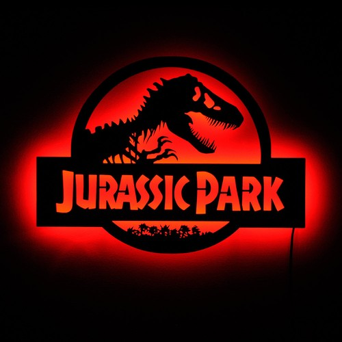 Dekorjinal Gölge Lamba Jurassic Park Sembolü GLMB013