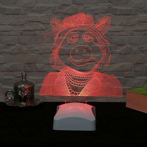 Dekorjinal 3 Boyutlu Bayan Piggy Lamba V23D160