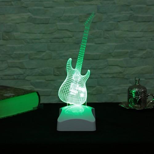 Dekorjinal 3 Boyutlu Elektronik Gitar Lamba V23D163
