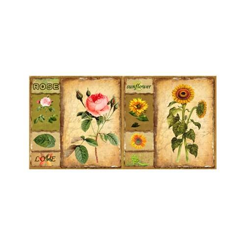 ARTİKEL Decorative Roses 2 Parça Kanvas Tablo 80x40 cm KS-870