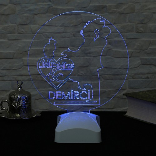 Dekorjinal 3 Boyutlu Kişiye Özel Lamba OZEL3D013