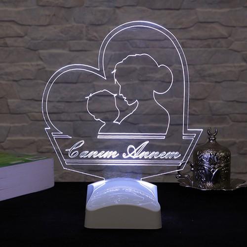 Dekorjinal Anneler Günü 3 Boyutlu Lamba ANNE3D005