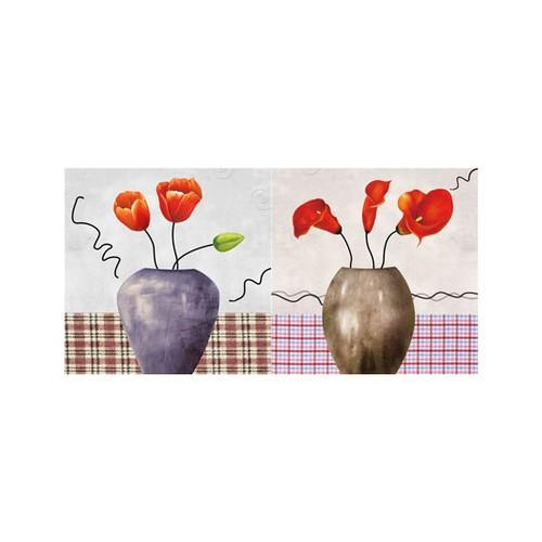 ARTİKEL House of Flowers 2 Parça Kanvas Tablo 80x40 cm KS-673