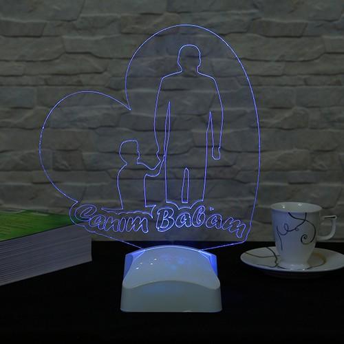 Dekorjinal Dekojinal Babalar Günü 3 Boyutlu Lamba BABA3D007