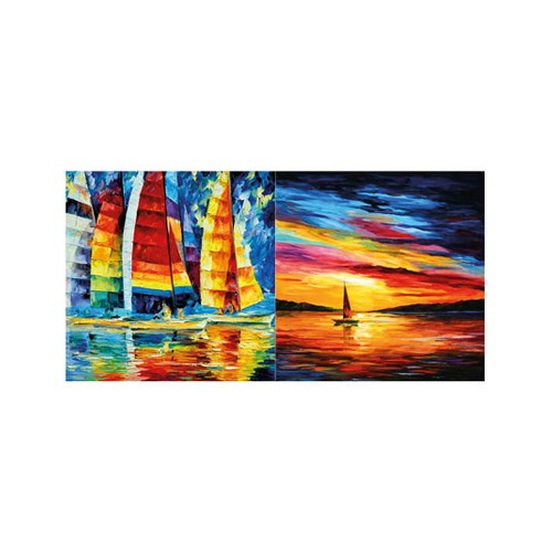 ARTİKEL Rainbow Sailing 2 Parça Kanvas Tablo 80x40 cm KS-763