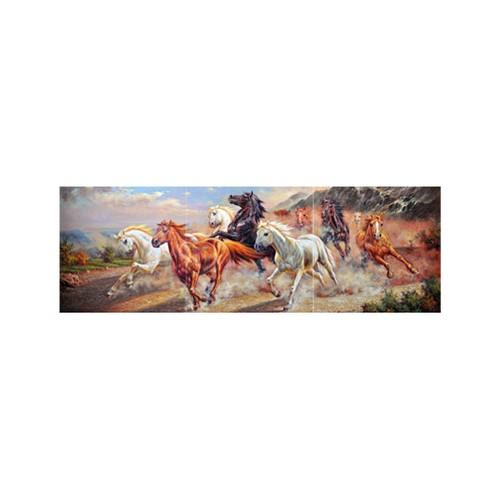 ARTİKEL Koşan Atlar 3 Parça Kanvas Tablo 40X120 Cm KS-729