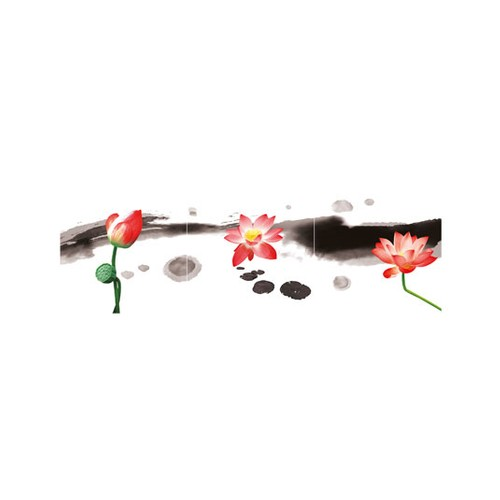 ARTİKEL Watercolor Roses 3 Parça Kanvas Tablo 40X120 Cm KS-680