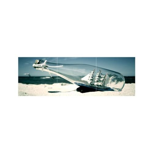 ARTİKEL Bottle Message-2 3 Parça Kanvas Tablo 40X120 Cm KS-610