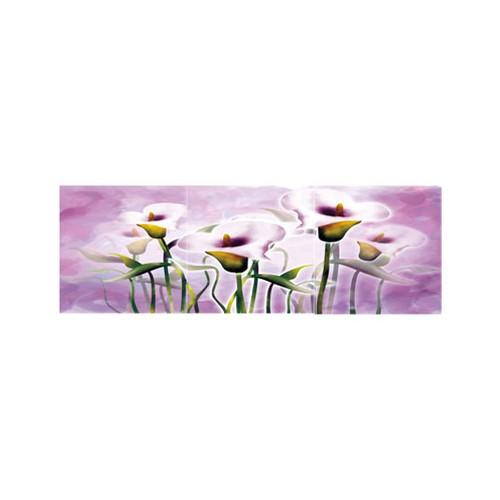 ARTİKEL Violet Flowers 3 Parça Kanvas Tablo 40X120 Cm KS-738