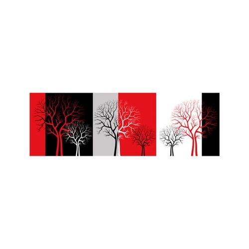 ARTİKEL Sad Tree 3 Parça Kanvas Tablo 40X120 Cm KS-730
