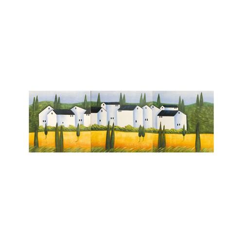 ARTİKEL Big House 3 Parça Kanvas Tablo 40X120 Cm KS-719