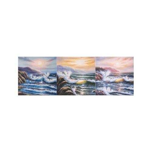 ARTİKEL Wave 3 Parça Kanvas Tablo 40X120 Cm KS-620