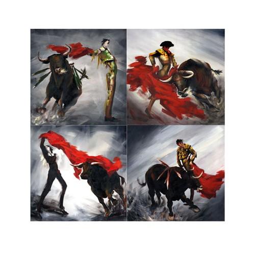 ARTİKEL Rodeo 4 Parça Kanvas Tablo 70x70 cm KS-687