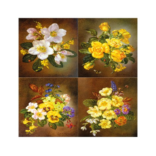 ARTİKEL Floral Diversity 4 Parça Kanvas Tablo 70x70 cm KS-735