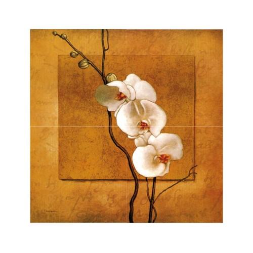 ARTİKEL White Orchid 4 Parça Kanvas Tablo 40x120 cm KS-734