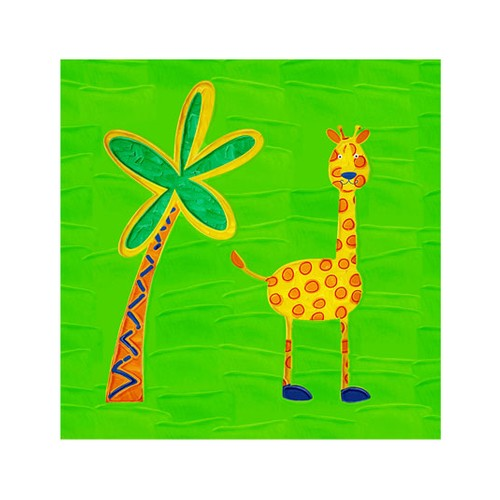 ARTİKEL Giraffe 4 Parça Kanvas Tablo 70x70 cm KS-226